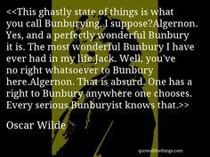 bunbury oscar wilde
